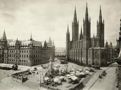 Marketplace in Wiesbaden in Germany