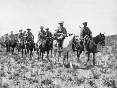 Soldiers Riding on Horseback