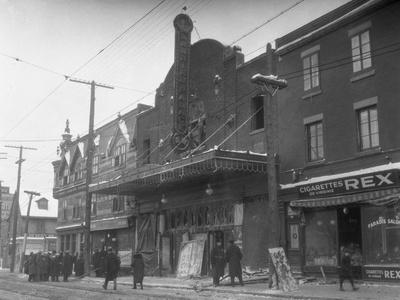 Exterior of Theater after Fire