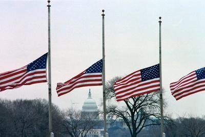 Washington Flags at Half-Staff