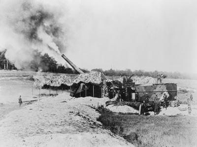 View of Cannon Firing during World War I
