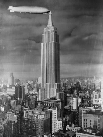 Dirigible Docked at Empire State Building