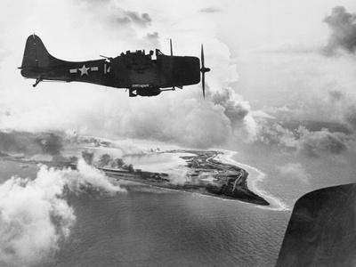Navy Plane Preparing to Dive Bomb