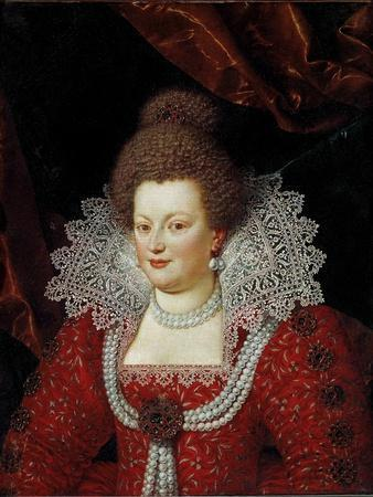 Portrait of the Queen of France Maria De' Medici Attributed to Frans Pourbus the Younger