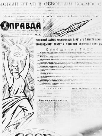 Front Page of Communist Newspaper Pravda