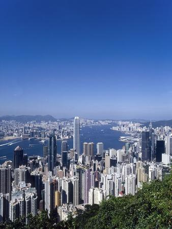 Skyline of Hong Kong Seen from Victoria Peak, China