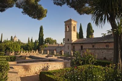 Generalife Gardens in Alhambra, Granada, Spain