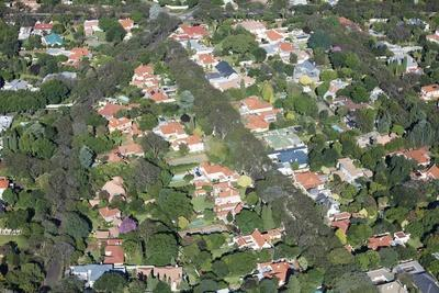 Aerial View of Sandton, South Africa