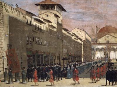 Procession on via De' Servi in Florence