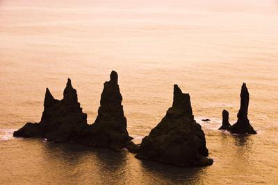 Seastacks off Dyrholaey