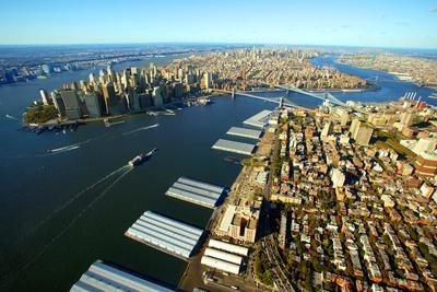 Aerial View of Manhattan and Brooklyn
