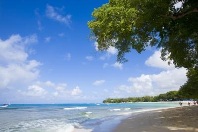 Scenic View of Beach, Sandy Lane Beach, Barbados