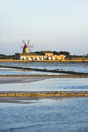 Windmill and Saltworks, Marsala, Sicily, Italy