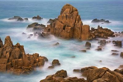 Rocky Coastline at Plougasnou, Finistere, Brittany, France