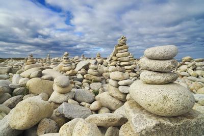 Rocks at Pebble Beach, Trebeurden, Cote De Granit Rose, Cote D'armor, Brittany, France