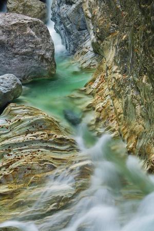 Canyon of Mountain Stream with Rocks, Garnitzenklamm, Hermagor, Carinthia, Austria