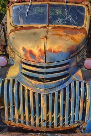 Old Chevy with Rust and Fading Paint