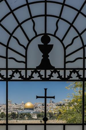View of the Old Town with the Dome of the Rock from the Catholic Franciscan Church of Dominus Flevi