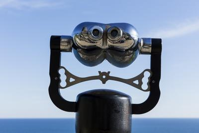Binoculars Overlooking Mediterranean Sea in Vernazza, Cinque Terre, Italy