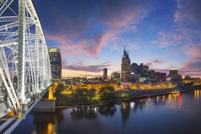 Nashville Skyline over the Cumberland River.