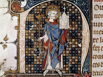 Portrait of St. Louis Carrying the Model of the Sainte-Chapelle