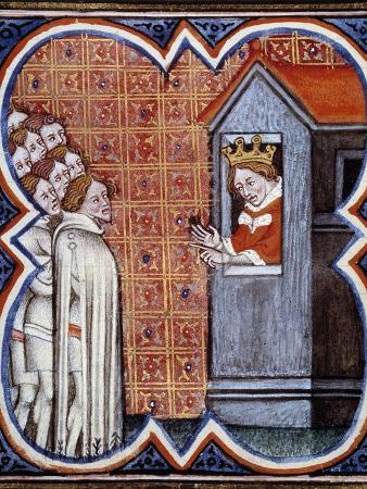 Charles II the Bad, King of Navarre, Haranguing the Parisians