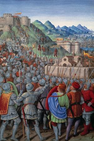 The Genovese Troops Attack the Castellacio of Genoa - by Jean Bo