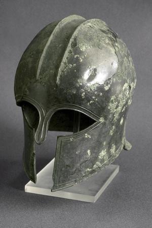 Greek Art : Corinthian Bronze Helmet