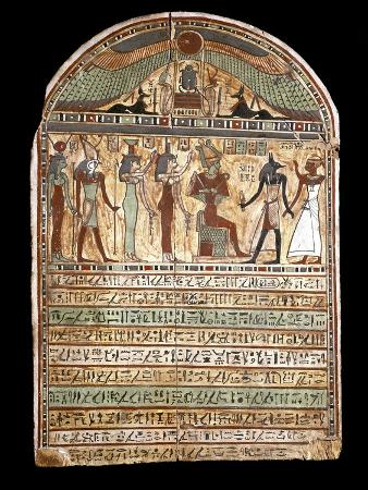 Osiris Welcomes the Deceased Presented to Anubis