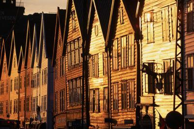 Old Merchant Houses at Sunset