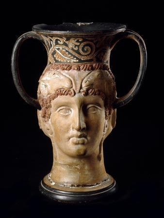 Etruscan Civilization : Double Head Kantharos, Heracles and Omph