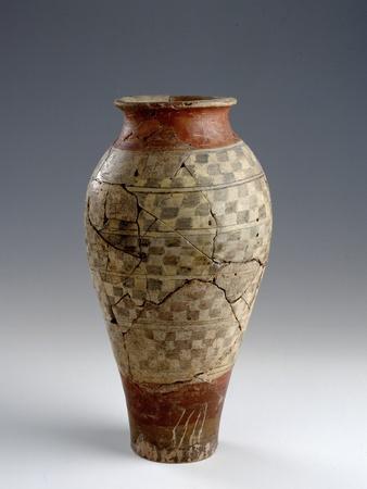 Celtic Art Terracotta Painted Vase Photographic Print At