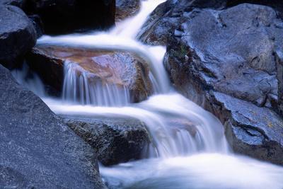 Water Flowing over Rocks in Stream