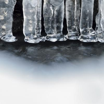Ice Creates Strange Scupltures, Alpi Carniche, Friuli-Venezia Giulia, Carnia , Italy, Italia