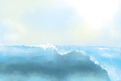Painting Of A Great Sea Wave
