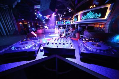 The Empty Space With Equipment For Dj Mixes Music
