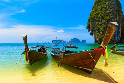 Travel Landscape, Beach With Blue Water And Sky At Summer