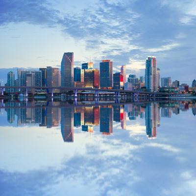 Miami Florida, USA Downtown Business Buildings