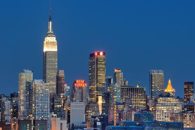 NEW YORK CITY - AUGUST 24: Landmark Buildings including New Yorker Hotel and Empire State Building