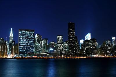 Midtown Manhattan Skyline at Night, New York City