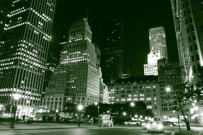 Manhattan Skyline and Central Park at Night, New York City