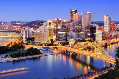Downtown Pittsburgh, Pennsylvania at Dusk.