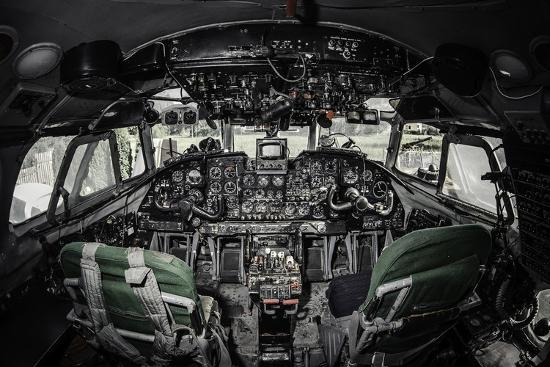 Inside Of Airplane Cockpit Photographic Print By Amok At