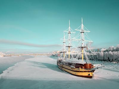 Sailboat on Pier