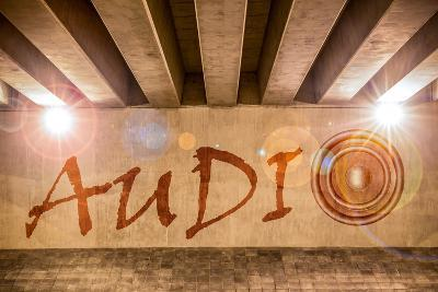 The Word Audio with Bass Speaker as Graffiti