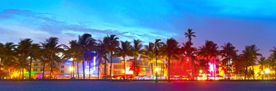Miami Beach Florida Hotels and Restaurants at Sunset