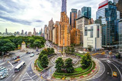 New York Cityscape at Columbus Circle in Manhattan.