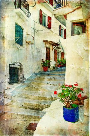 Traditional Greece -Pictorial Streets, Artistic Picture