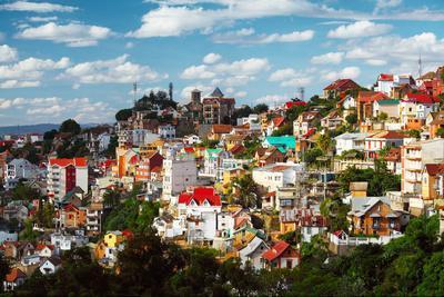 Buildings of a City of Antananarivo in Sunny Day. Madagascar