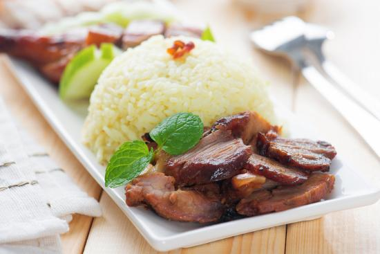 Charsiu Pork Chinese-Flavored Barbecued Pork Rice  Popular Cantonese  Cuisine  Hong Kong Cuisine